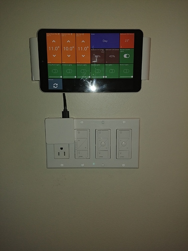 Finally mounted my control tablet - Smart Homes - Hubitat