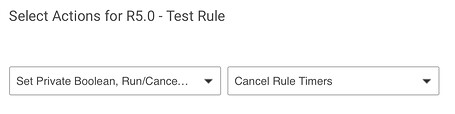 Screenshot: Rule 5.0 'Cancel rule timers' action