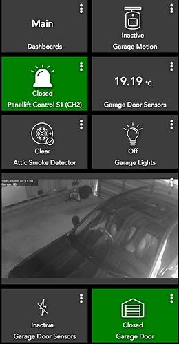 garage dashboard