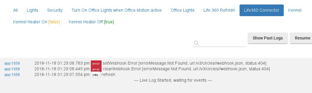 Life360 Connector refresh errors - Support - Hubitat