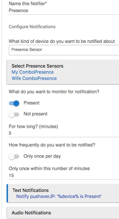 New Notifications App - Presence not working - Feedback