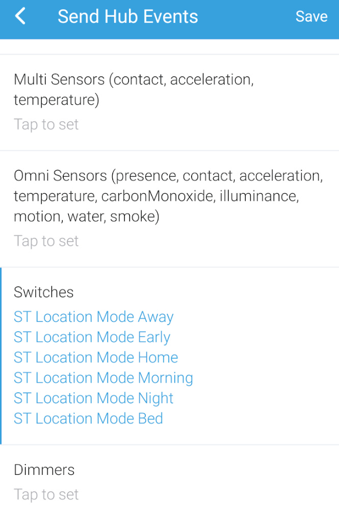 Using HubLink to report presence modes from SmartThings - Support