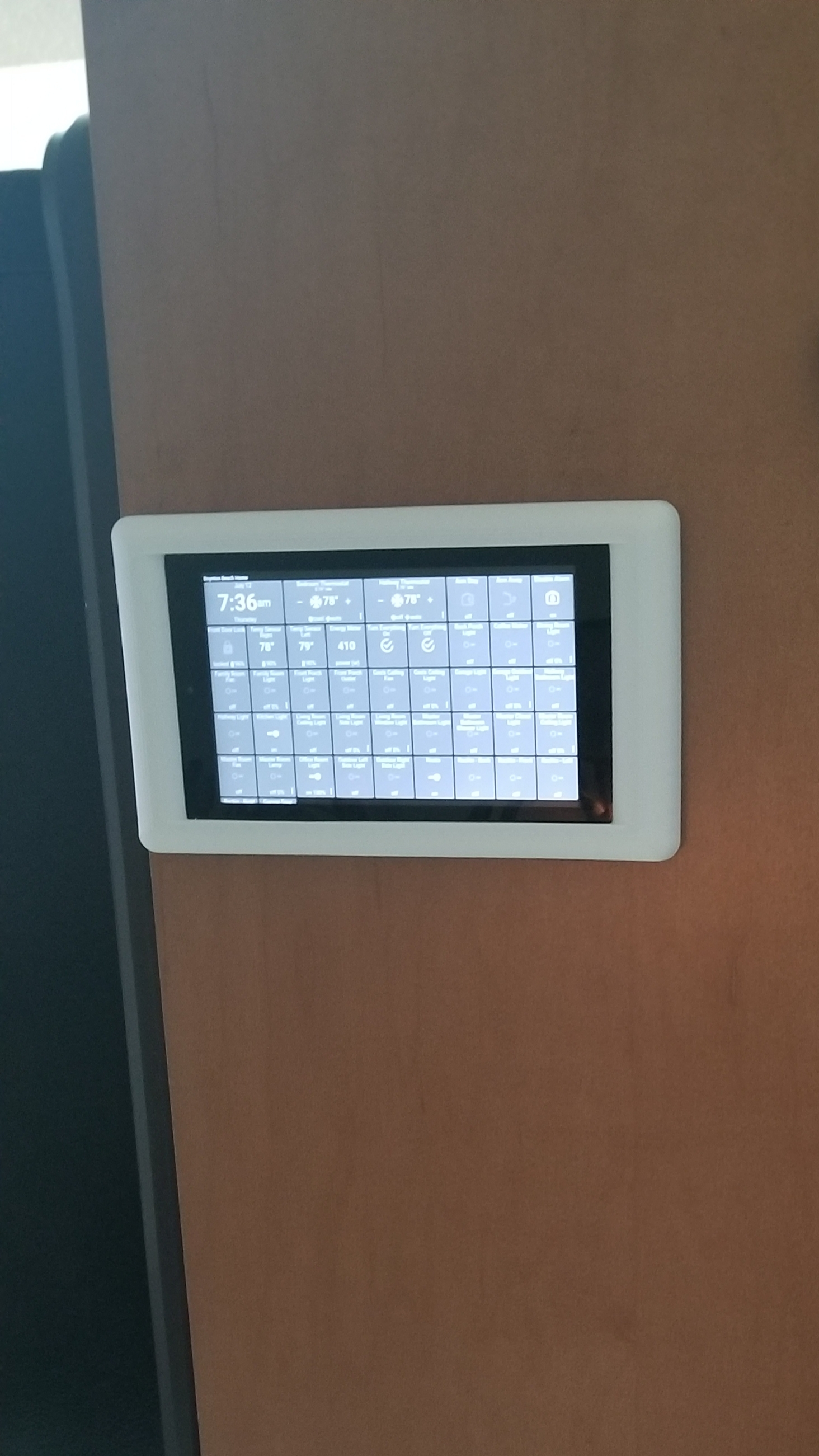 Finally mounted my control tablet - Smart Homes - Hubitat