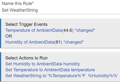 WeatherString Rule