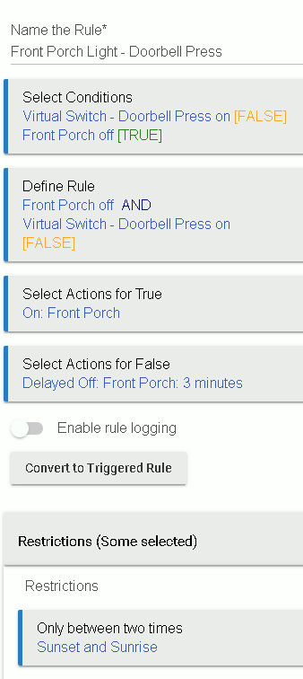 Use IFTTT to have ring doorbell motion turn on a smart