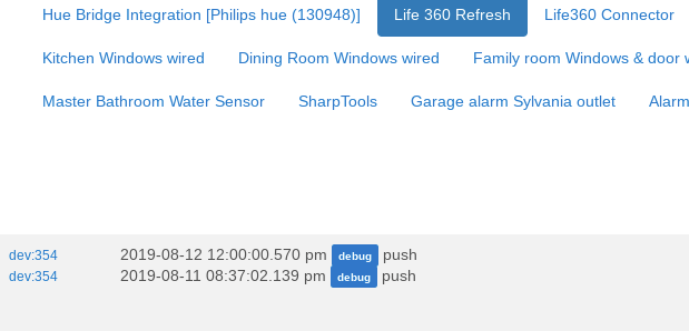 Issue with Life 360 refresh Rule not logging - Lounge - Hubitat