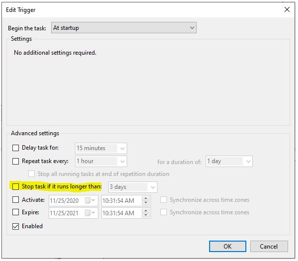 task settings 1