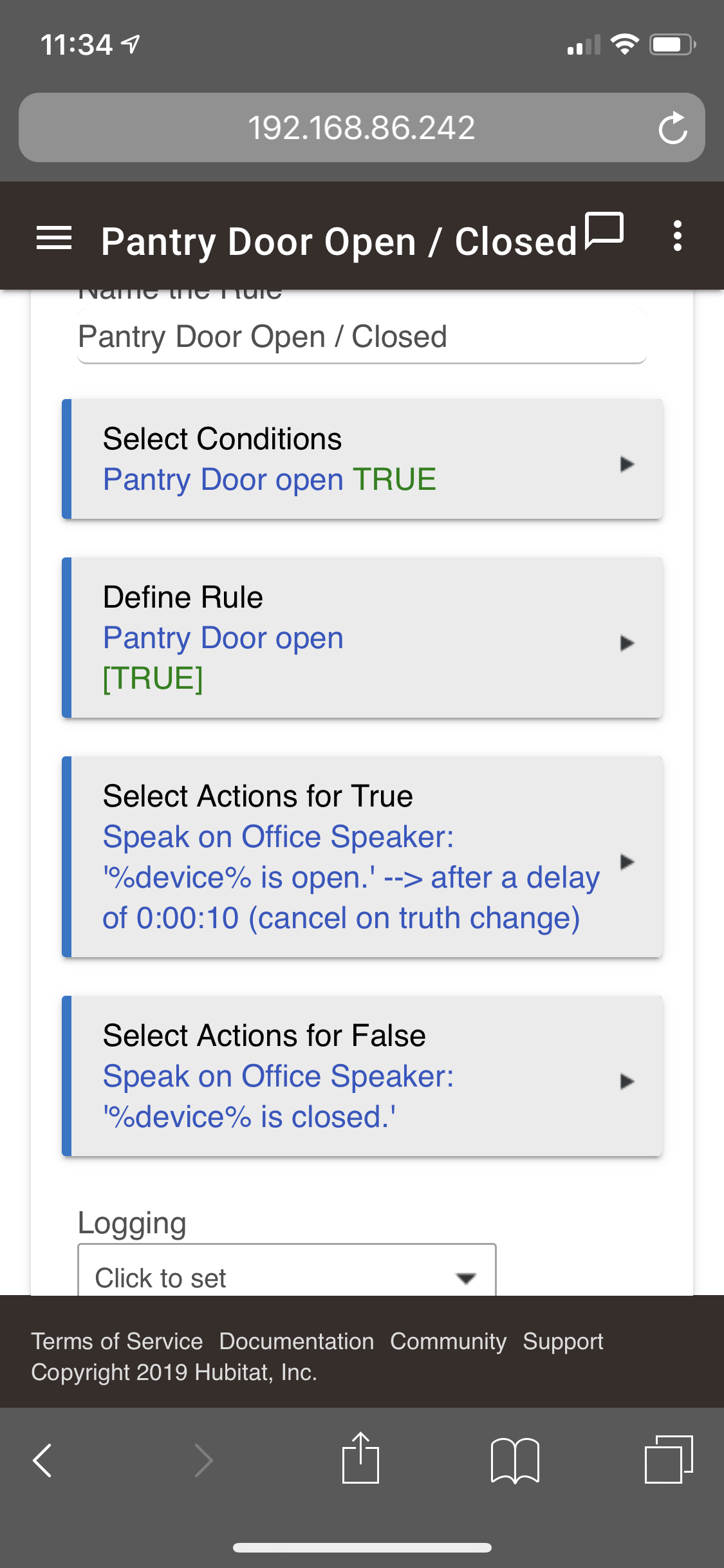 Trying to get TTS to speak to work on a Google Home mini - Rule